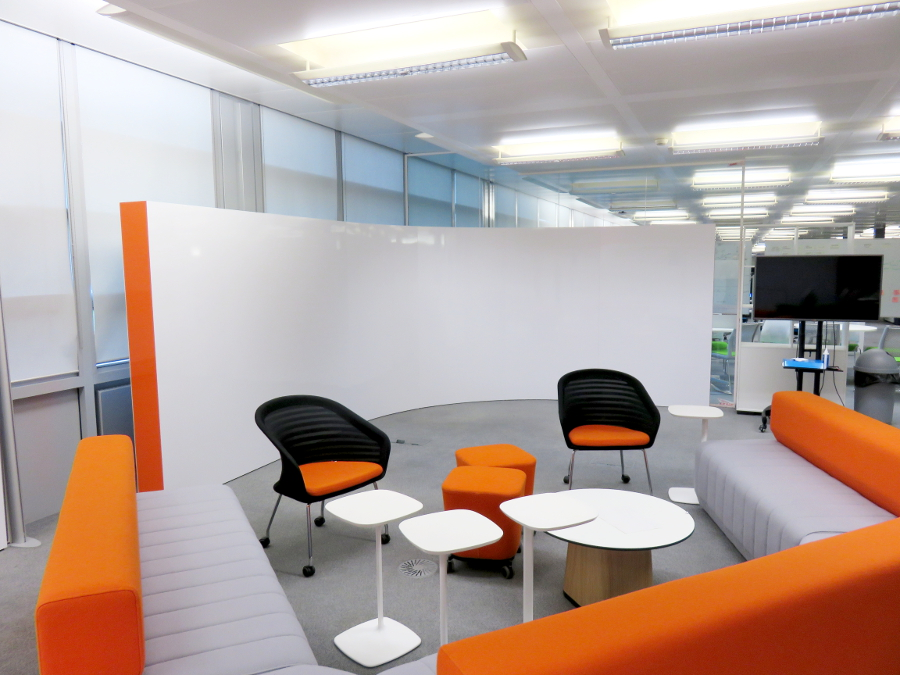 Whiteboard Partition Wall Logovisual