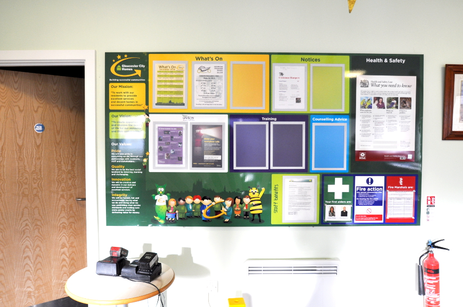 magnetic notice board