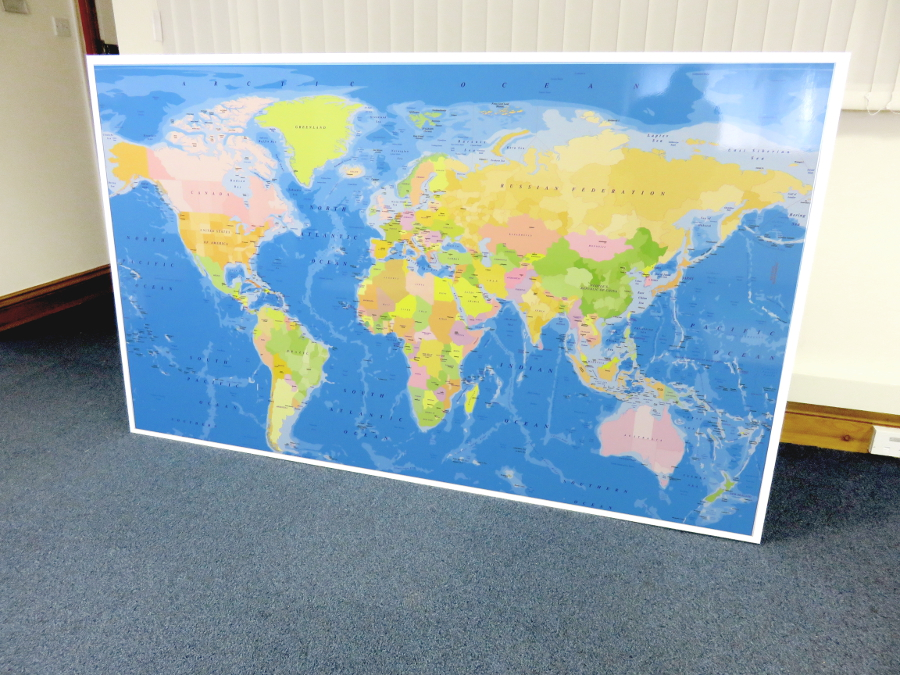 magnetic whiteboard map