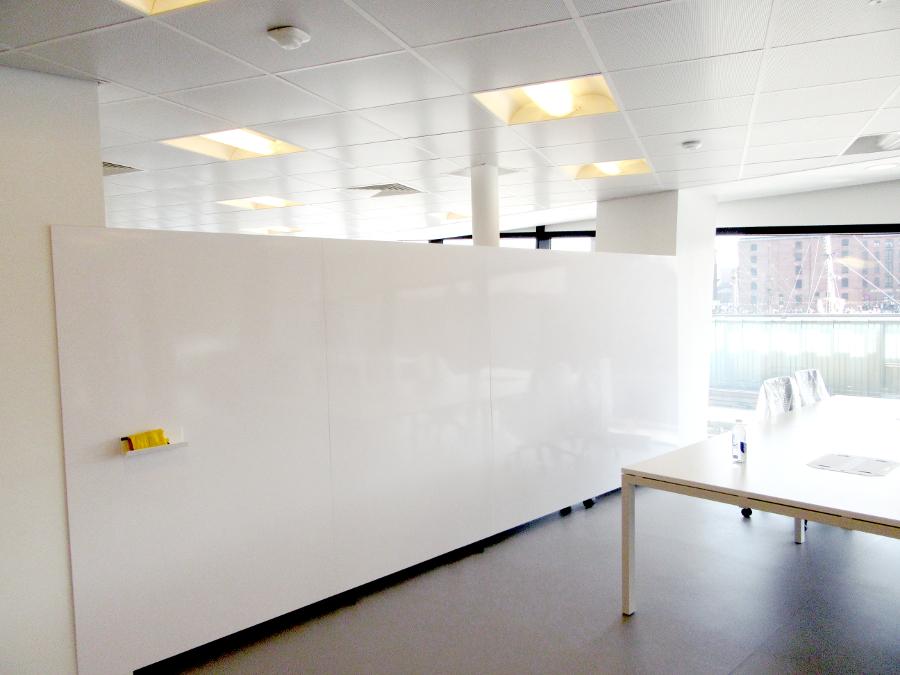 whiteboard wall on wheels