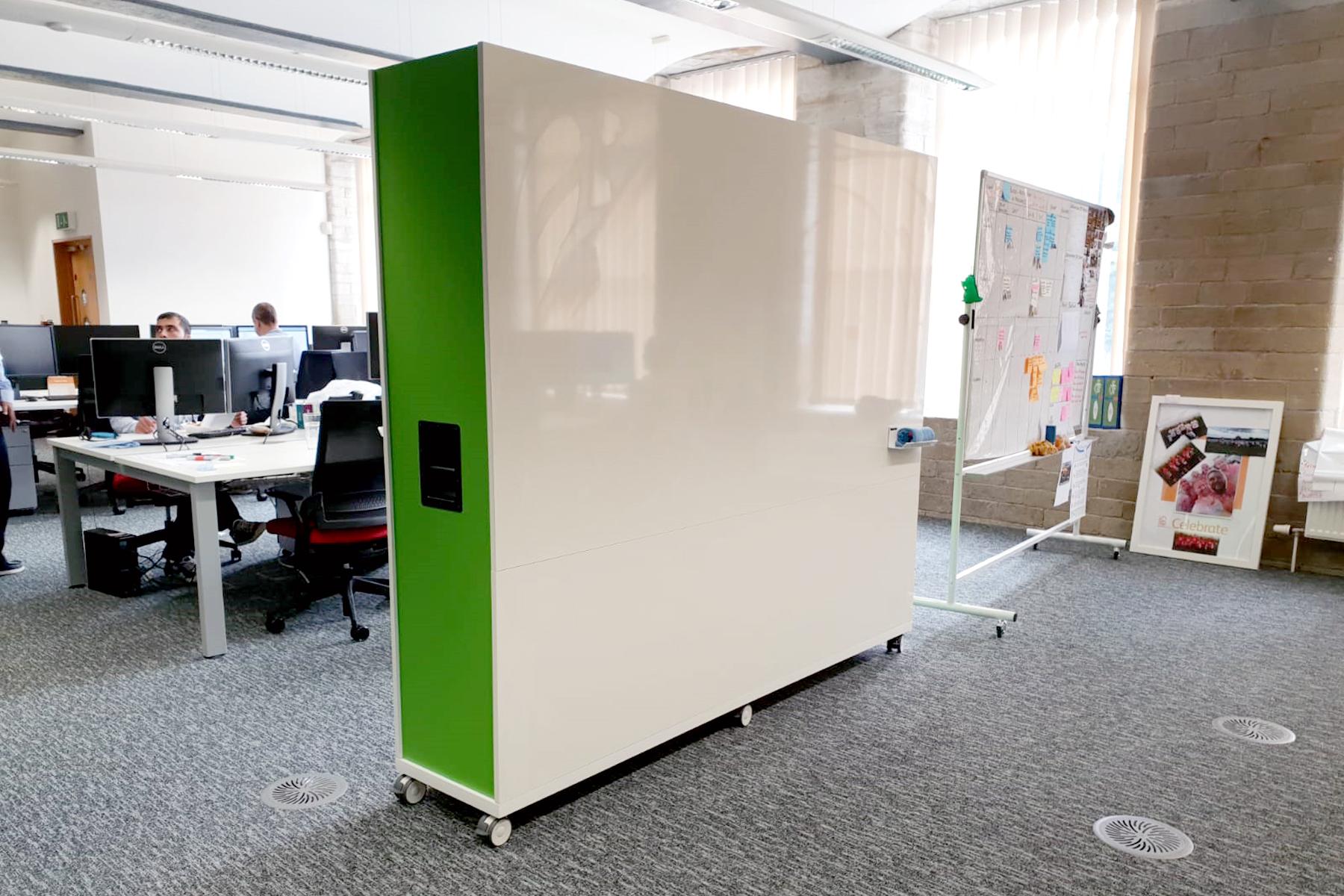 mobile whiteboard divider