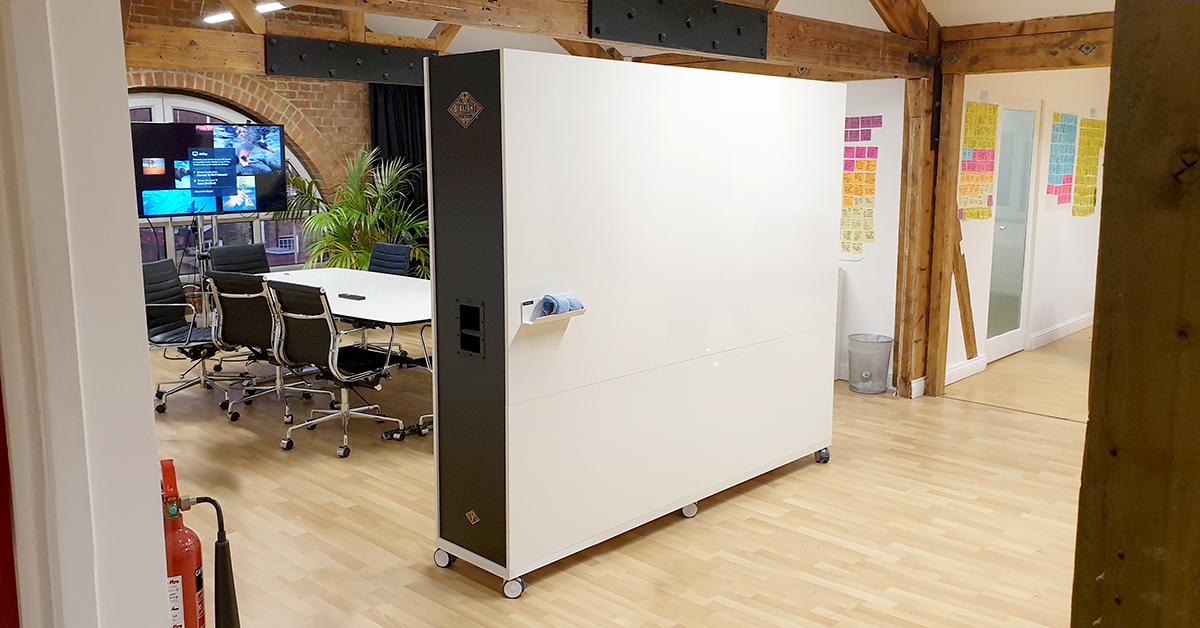 Branded Mobile Whiteboard Divider