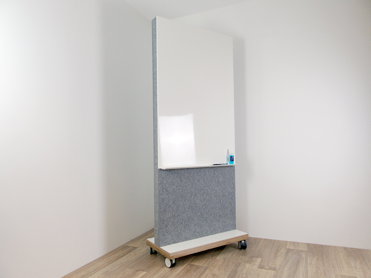 Acoustic screen with built in whiteboard