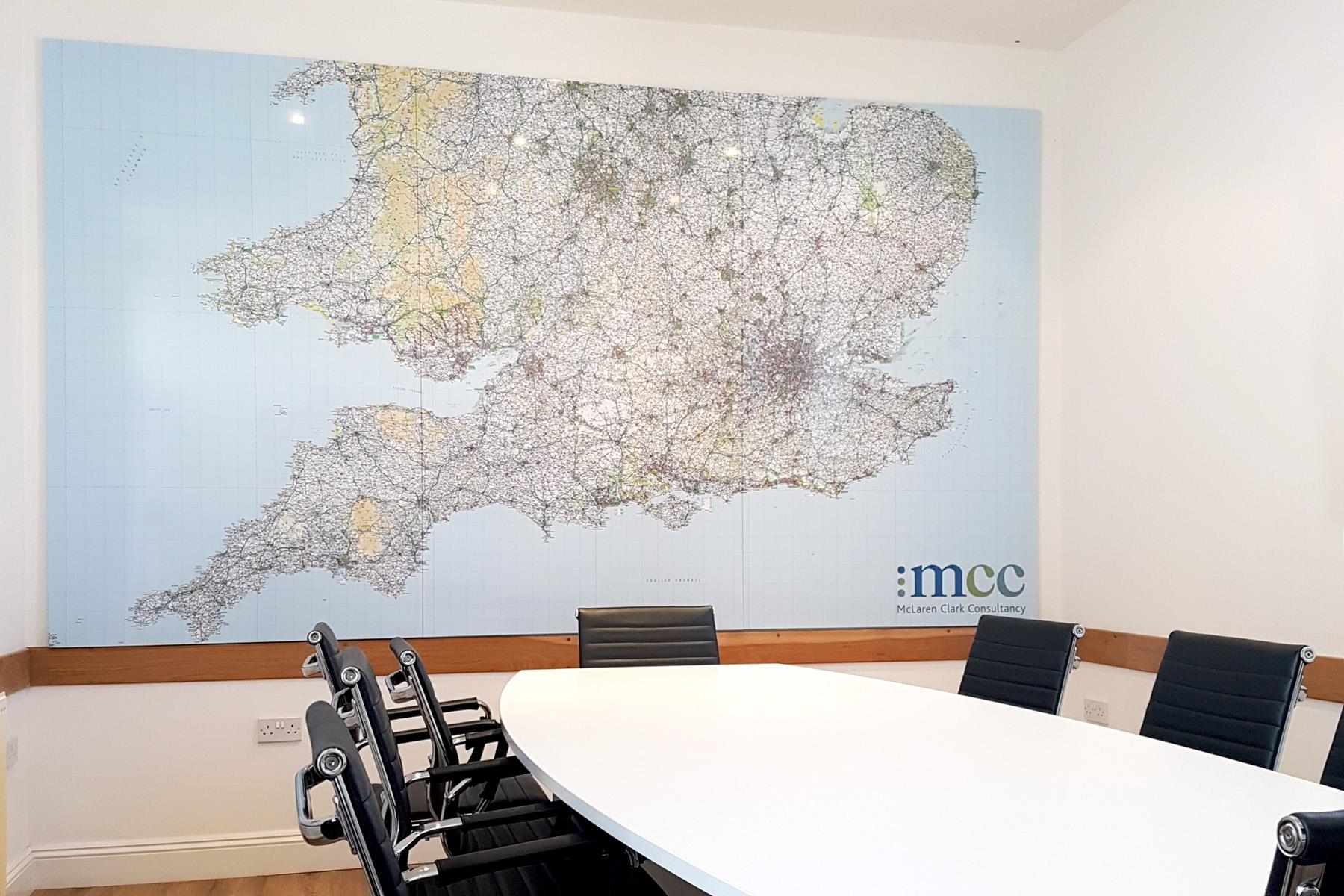 Custom Printed Whiteboard Map