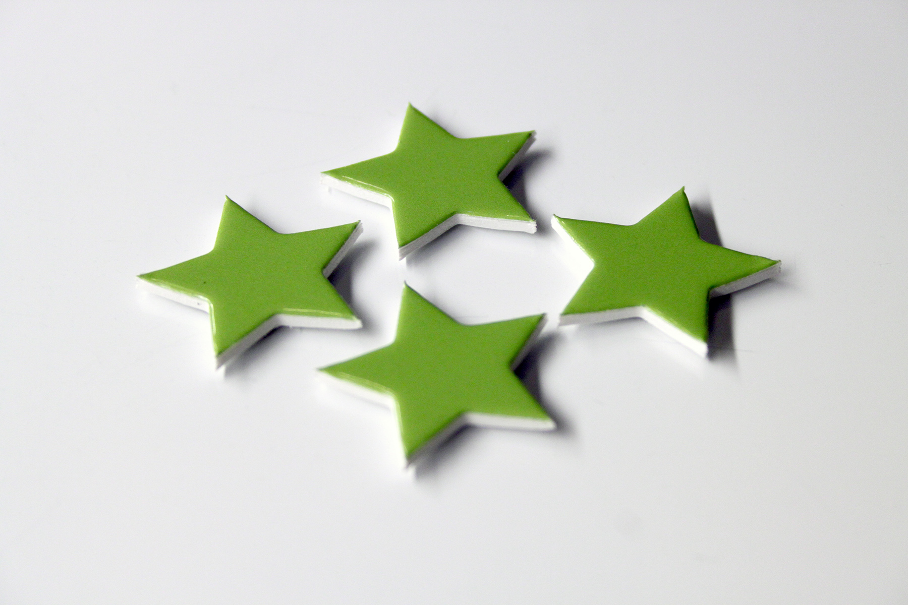 green star custom shaped magnets