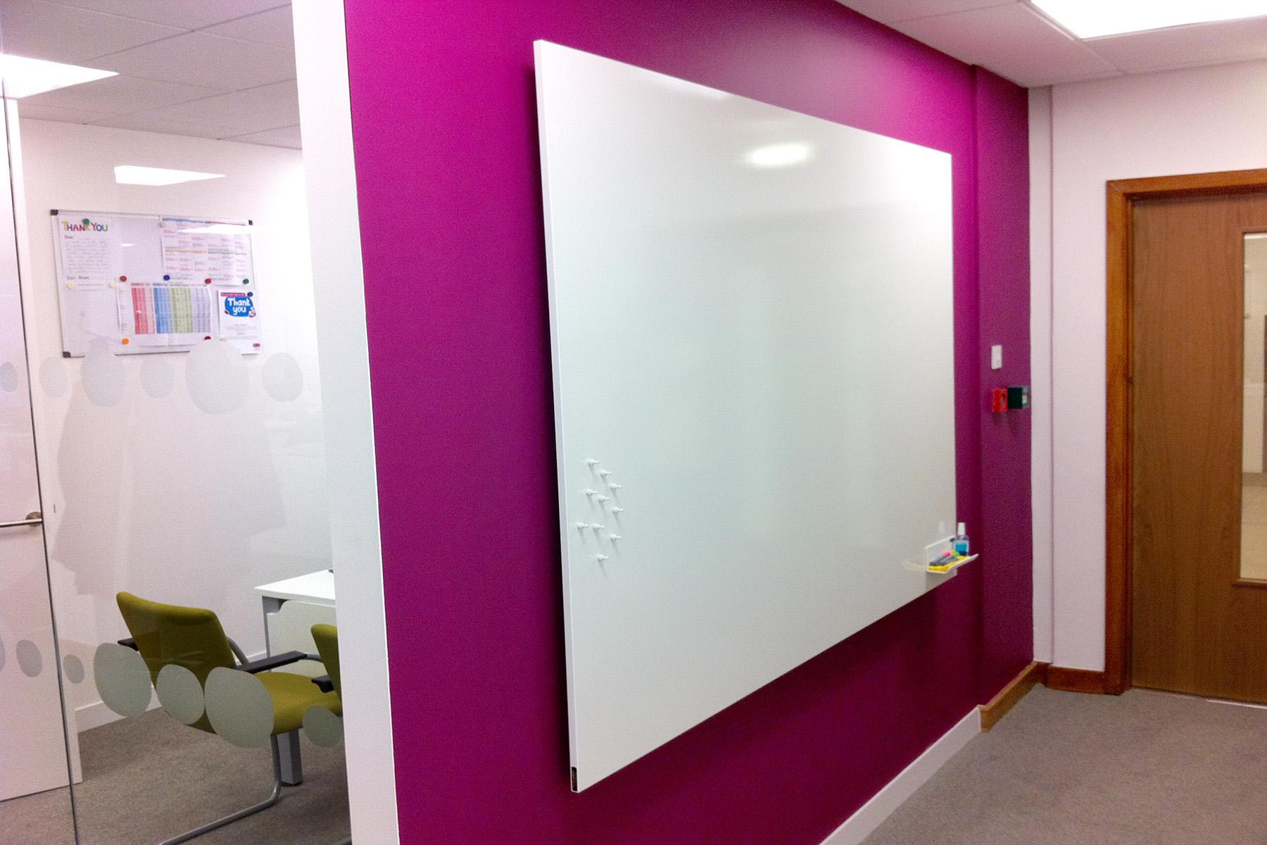 Custom Sized Frameless ThinkingWall® Whiteboard