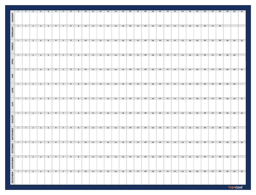 Year planner whiteboard
