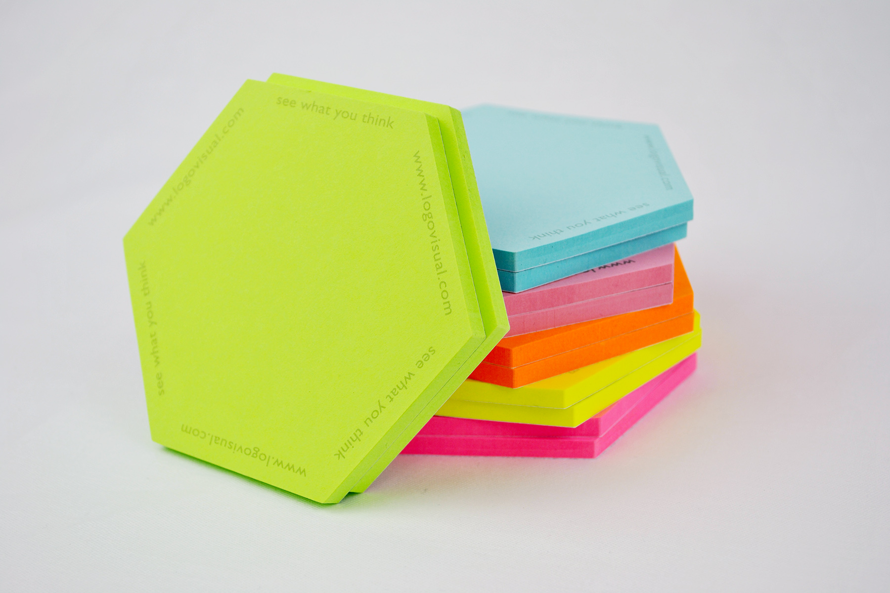 Small Hexagonal Sticky Notes
