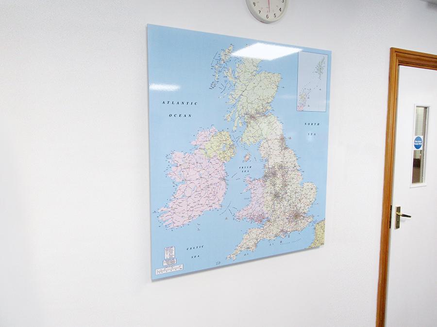 UK Map Whiteboard
