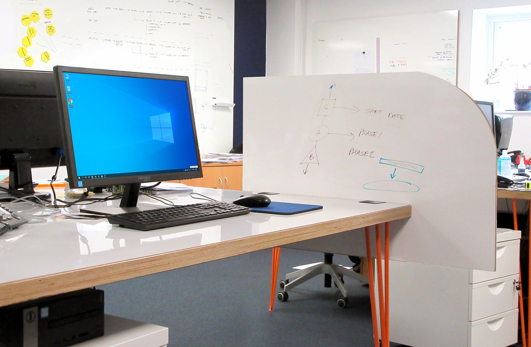 whiteboard desk screen