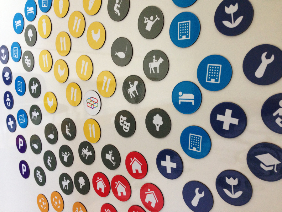 Custom printed magnets for magnetic receptive whiteboards