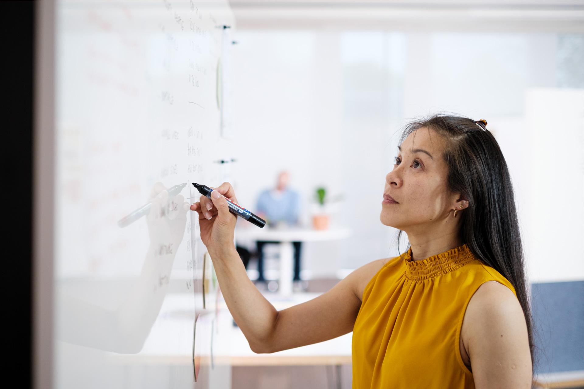 Writing on ThinkingWall Divider