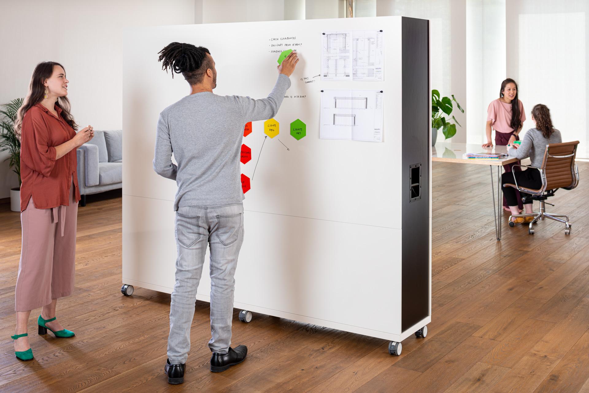 ThinkingWall Divider in use