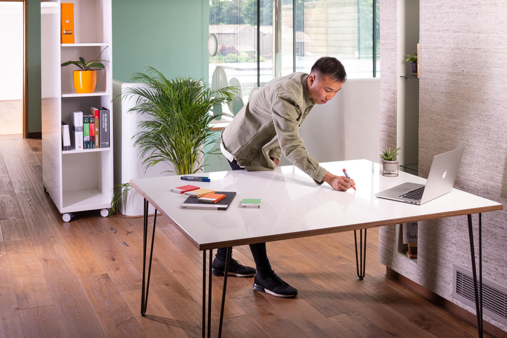 ThinkingWall drywipe desk