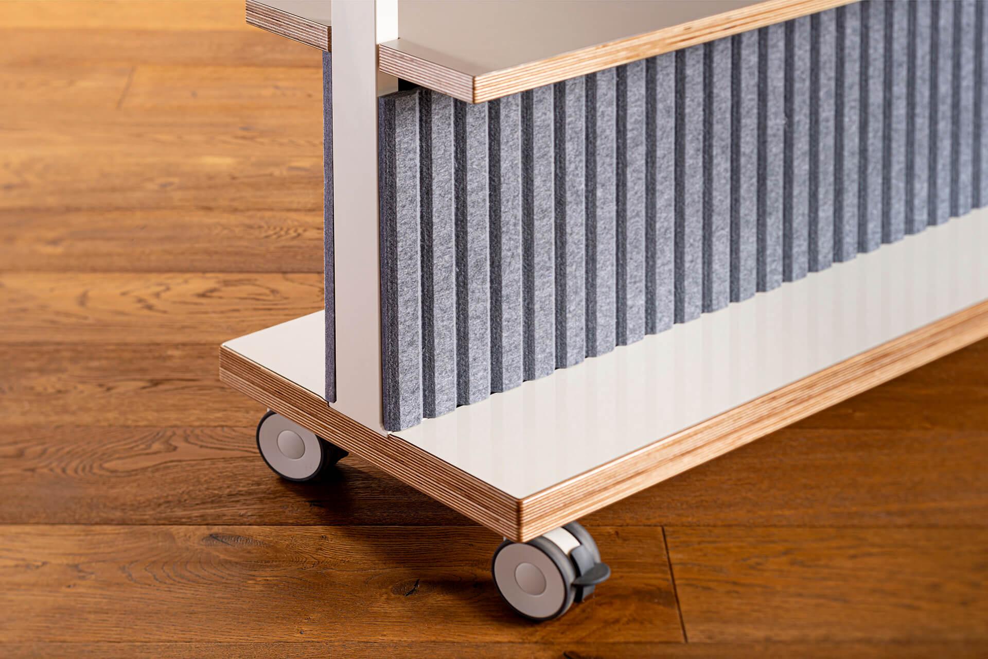 ThinkingWall Acoustic Shelf panel detail