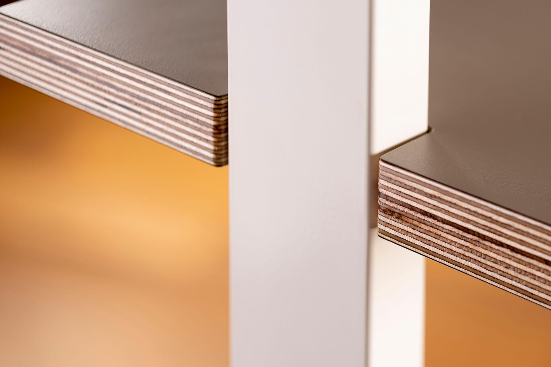 ThinkingWall Acoustic Shelf end detail